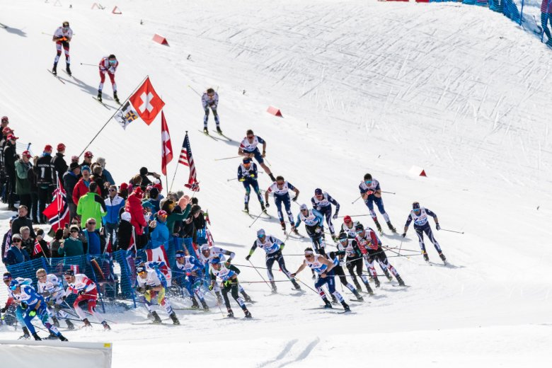 The men dig deep one more time during the final cross-country skiing event of the World Championships.