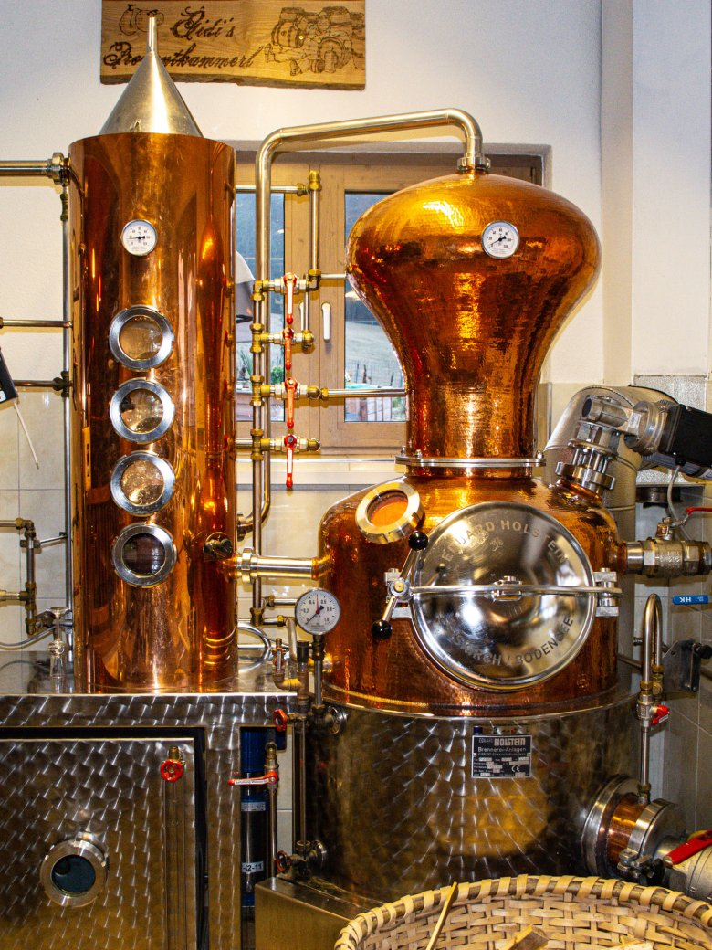 When the weather's bad, why not visit the local schnapps distillery in Fieberbrunn?
