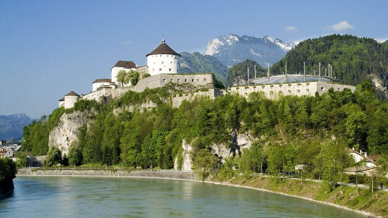 Mighty Kufstein Fortress is the extraordinary, historic outdoor venue for the Operetta Summer, © OperettenSommer
