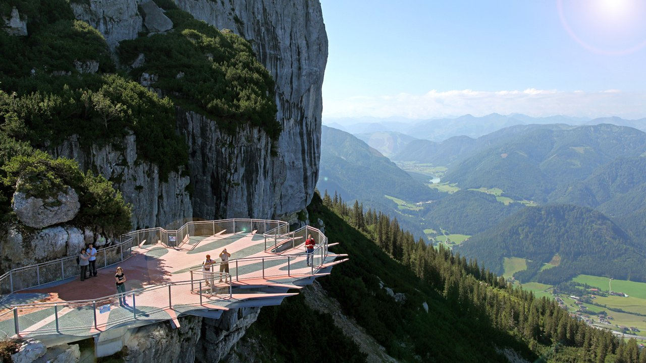The viewing platform in the Triassic Park, © Foto Oberleitner
