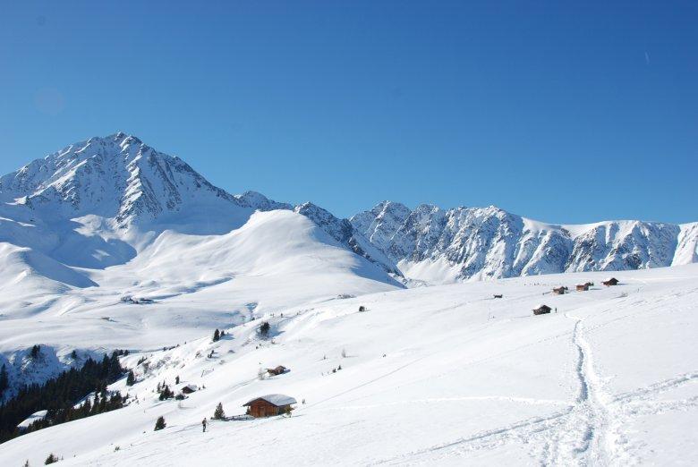 Winter Wonderland beneath Rosskogel Peak
