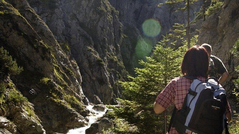 Gleirsch Gorge, southeast of Scharnitz, © Olympiaregion Seefeld