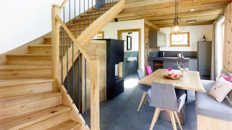 Living area in the Chalets Grosslehen, © Toni Niederwieser