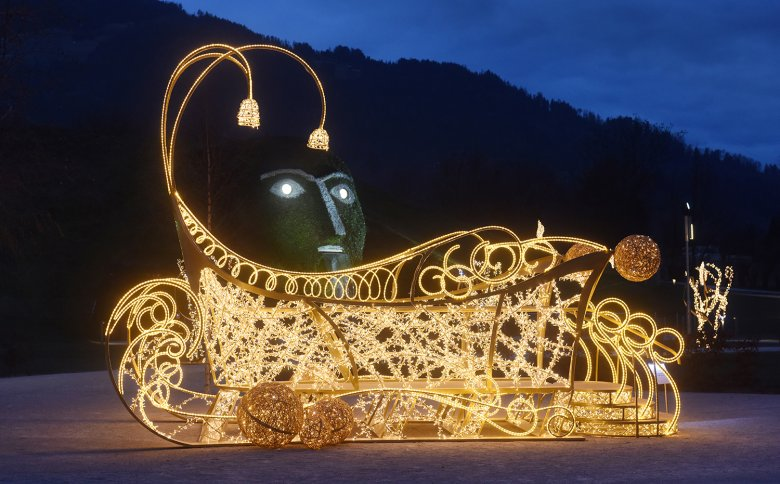 The Festival of Lights at the Swarovski Crystal Worlds in Wattens.