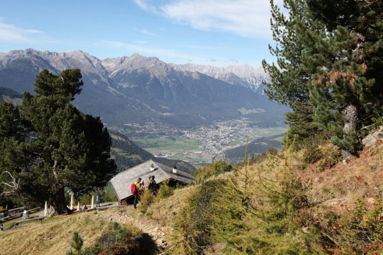 Looking over the town of Imst from the Leiner Alm