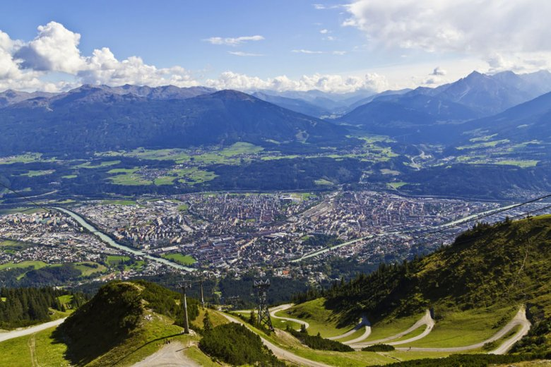 Halfway up, Seegrube will leave you breathless as you take in the awesome panoramic views of Innsbruck and the surrounding mountain scenery, Photography: TVB Innsbruck, Christof Lackner