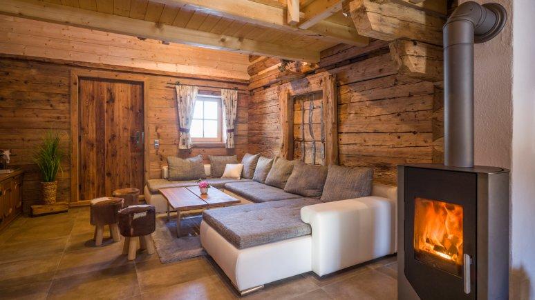 Chalet Ursteinhütte: living room, © Jakob Gastl
