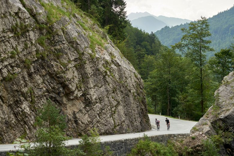 One of the climbs on the Alpbachtal Giro roadbike route.