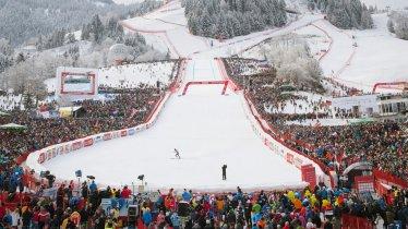 The Finish at the Hahnenkamm World Cup Race in Kitzbuehel, © Tirol Werbung/Jens Schwarz