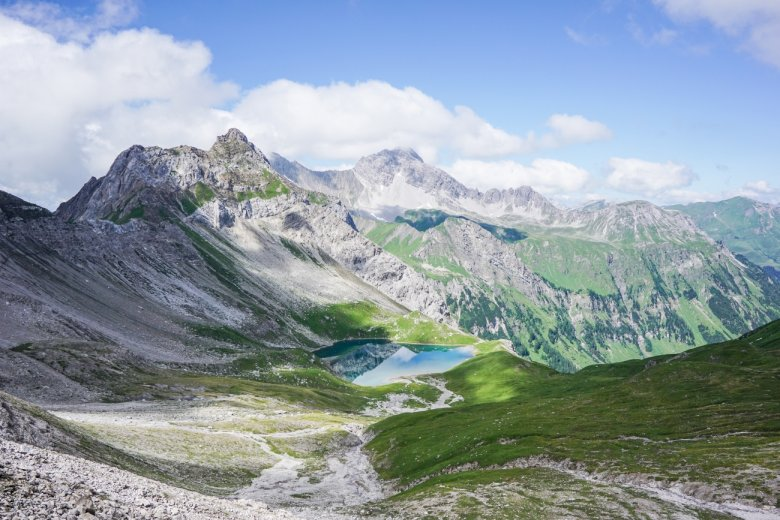 View of the Hintersee from below the Krindlonscharte ridge. (All photos: Fabian Pimminger)