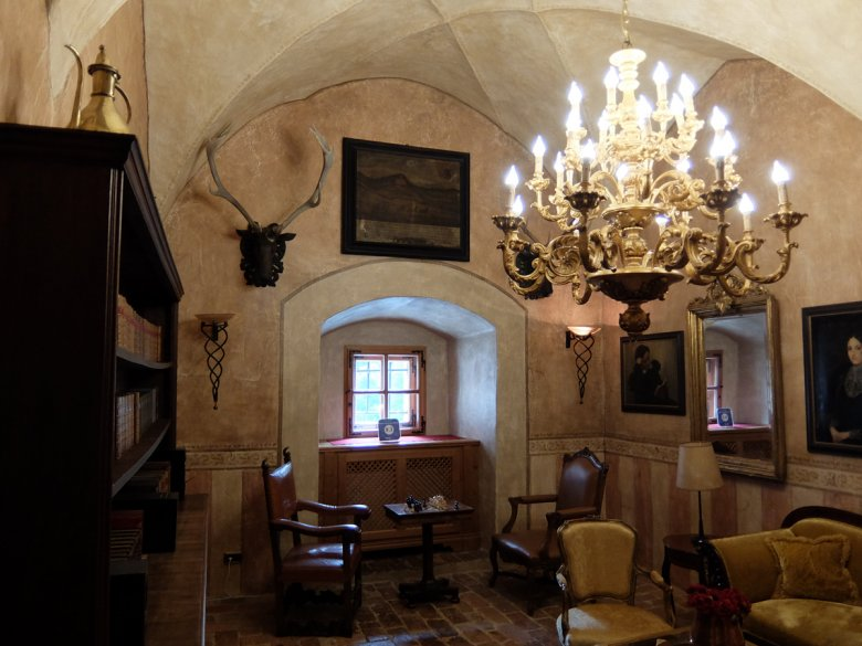 The former dungeon today houses a wonderful library.
