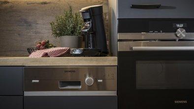 Küche in den neuen Suiten