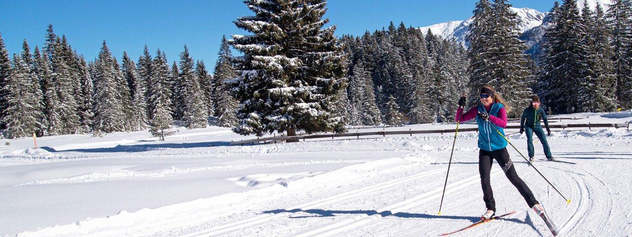 Cross-country skiing in Seefeld, © Tessa Mellinger