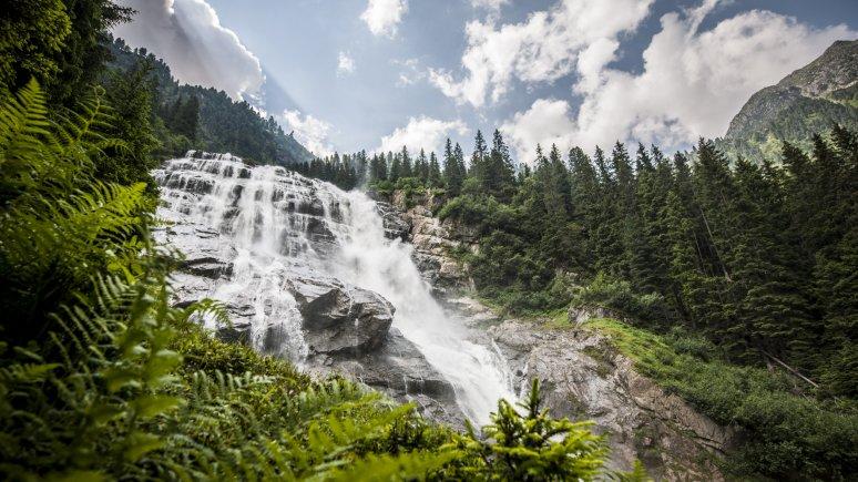 Grawa Waterfall in Stubaital Valley, © TVB Stubai Tirol/Andre Schönherr