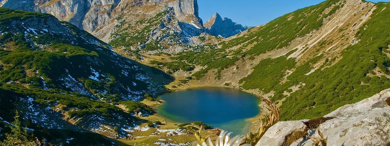 Zireiner See lake in the Rofan Mountains, © Alpbachtal Seenland Tourismus/Gerhard Berger