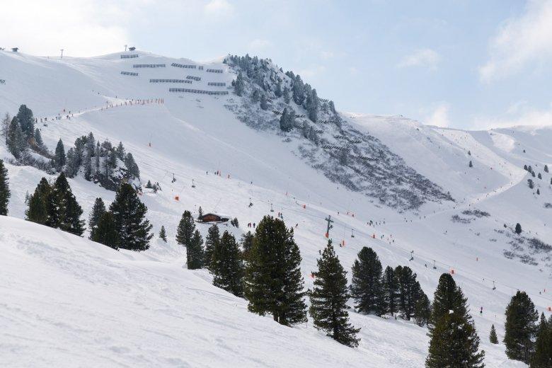 Ski slope in Mayrhofen.