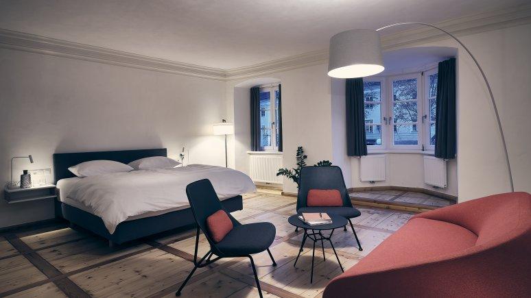 Bedroom at the Kontor hotel, © Klaus Maislinger