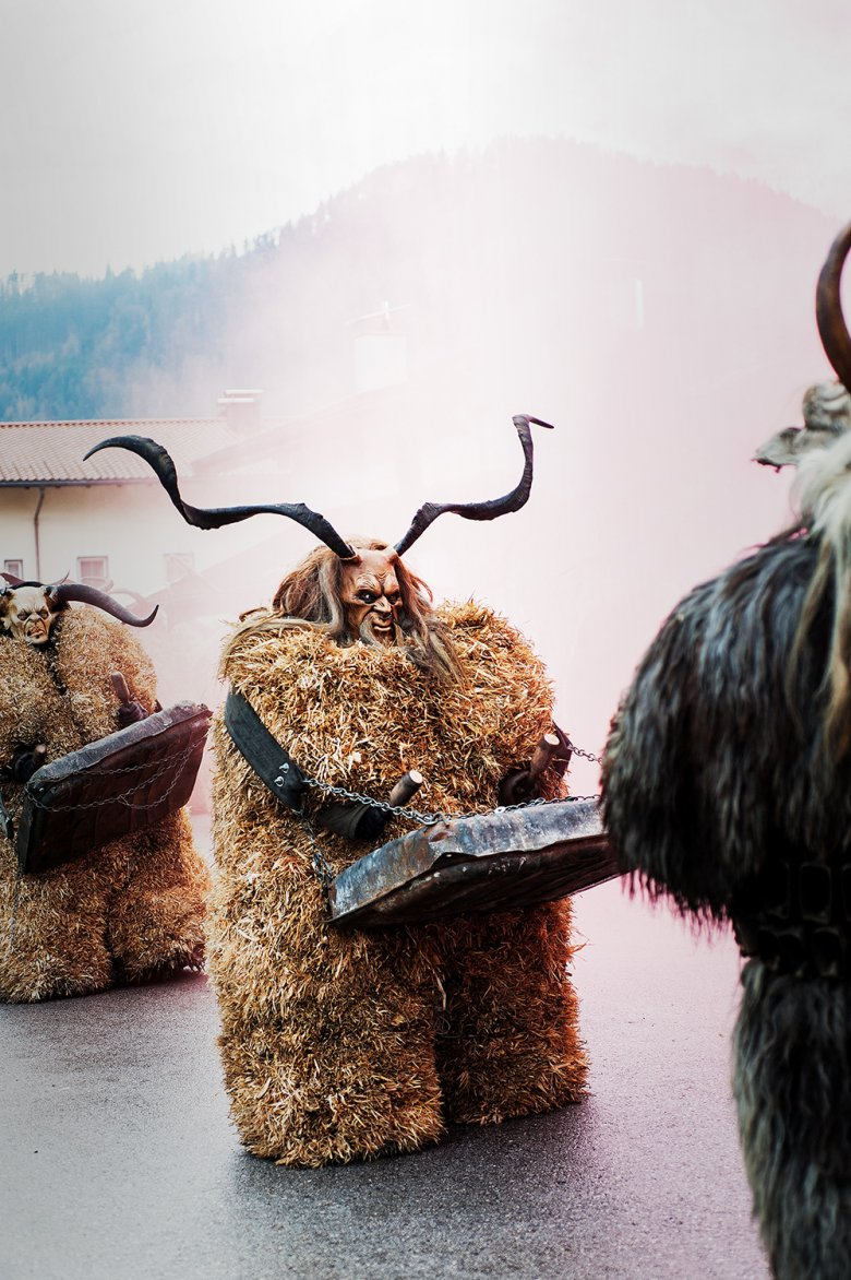 The Krampus processions in the Tirolean Unterland aim to drive out the evil spirits of winter. Photo: Lea Neuhauser