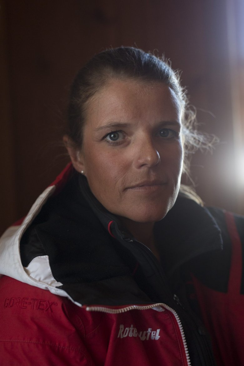 """Raised and born on skis in Kitzbühel, Jacky is one of the famed """"Red Devils"""" ski instructors. She is distantly related to legendary Olympic and World Champion Toni Sailer, a Kitzbühel native. She works as a ski instructor in the winter and at a bike shop in nearby Kössen in the summer. She usually works with English-speakers: About 60 per cent of her clients are British and Irish skiers."""
