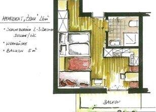 Appartments Leo Mayrhofen - Grundriss Zemm