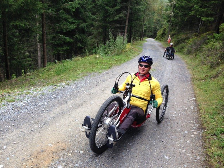 Assisting the mobility challenged is a special calling for Alois Praschberger–his powered mountain bike puts wheelchair users close to nature,