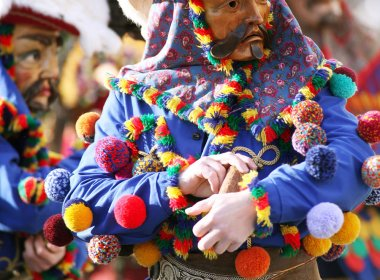 "Carnival celebrations in the ""MARTHA"" villages north-east of Innsbruck feature ""Muller"" and ""Matschgerer""."