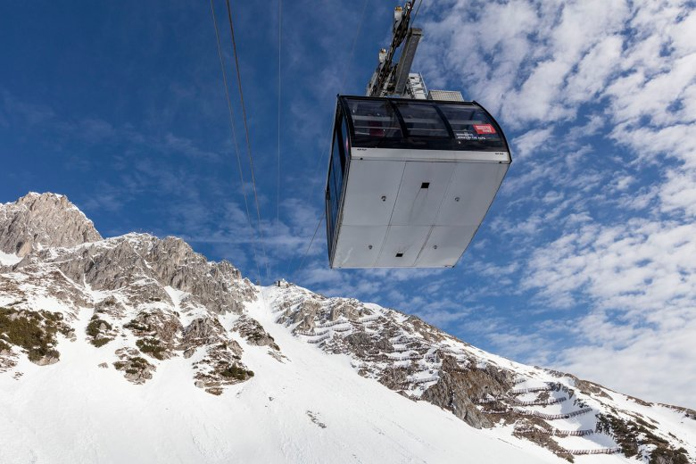 It only takes 20 minutes to get up to Nordkette Ski Resort from the city center.