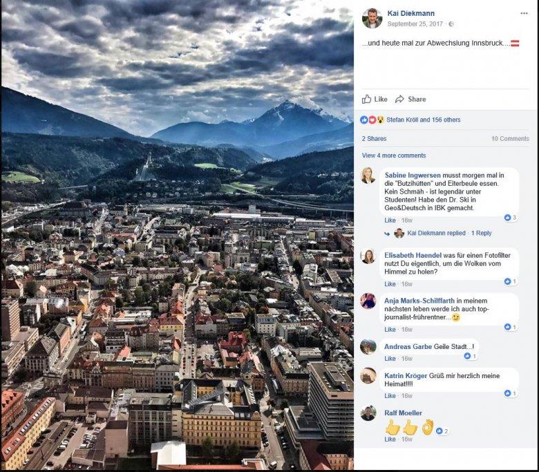 Innsbruck Facebook Diekmann