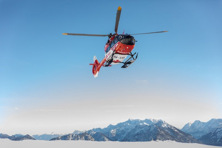 The RK-2 SAR helicopter also supports emergency calls outside of Austria in Germany's Bavaria when needed.