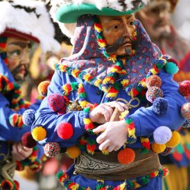"""Carnival celebrations in the """"MARTHA"""" villages north-east of Innsbruck feature """"Muller"""" and """"Matschgerer""""."""