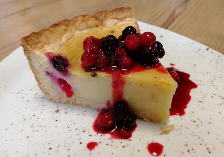 Vegan cheesecake at the Hotel Tyrol.