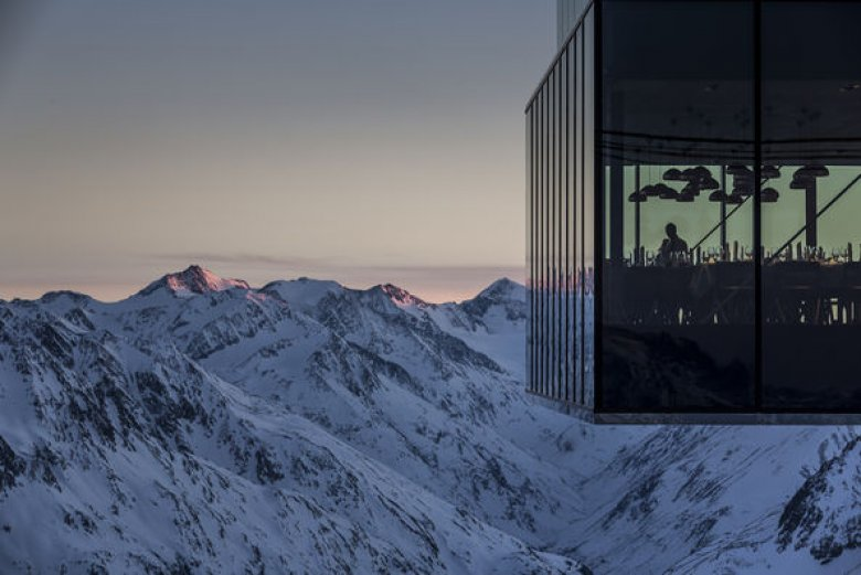The ice Q mountaintop restaurant, a shadow ice-cube of a building with walls of sheer glass, was used for filming Spectre. Tucking into multiple courses of exquisite, surprising cuisine in the midst of the magnificent Alps, you will wonder if Daniel Craig has had one heck of a dining experience here, too. As is compulsory in any snowbound Bond setting, there are snowmobiles. (Photo: Ötztal Tourismus / Rudi Wyhlidal)