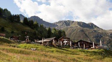 The Gampe Thaya hut in the Ötztal Alps