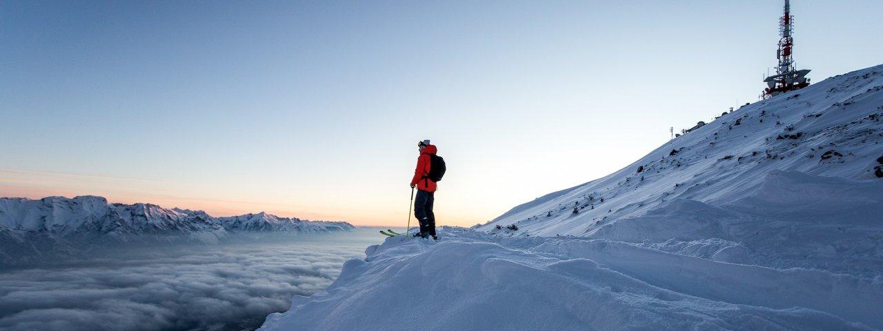 Ski touring high above the clouds, © Daniel Zangerl