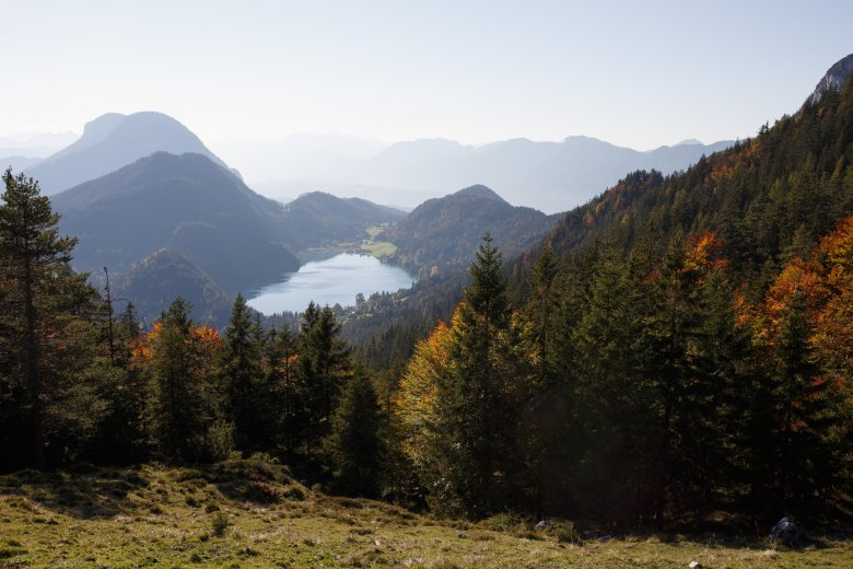 View of Achensee Lake from Steiner Hochalm. Photo Credit: Michael Rathmayr/Tirol Werbung