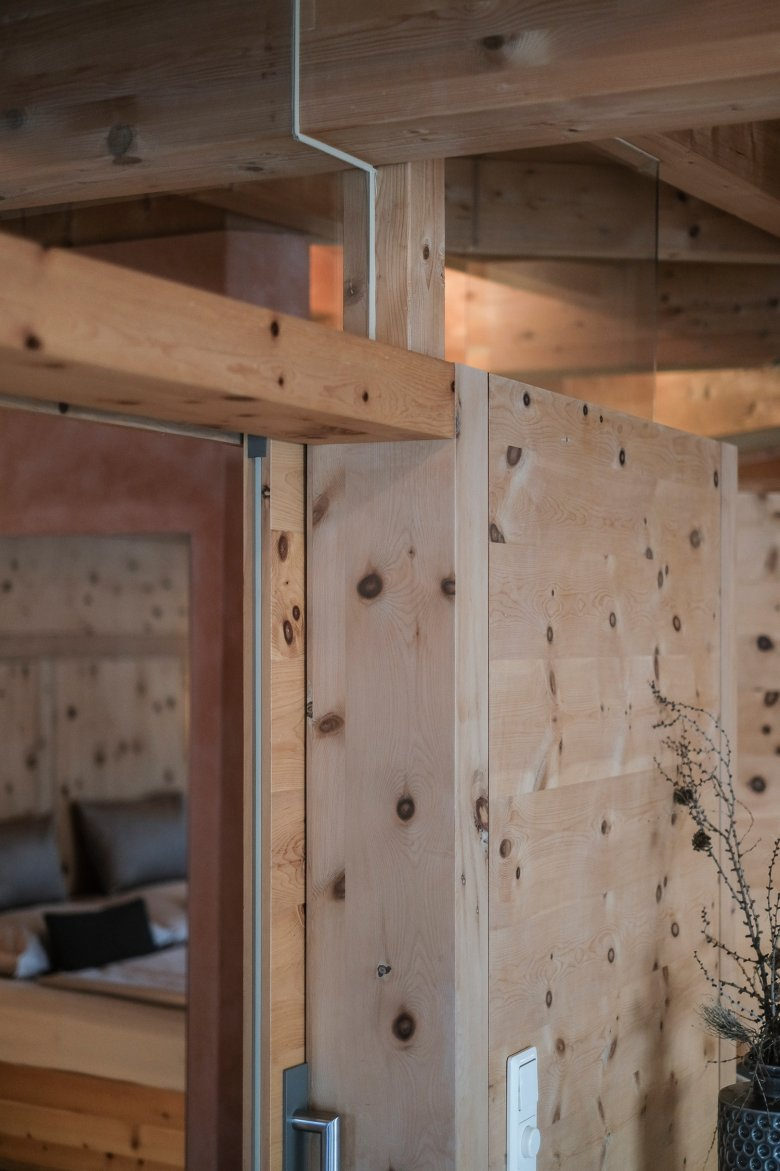 The solid wood construction method uses no screws and no glue.