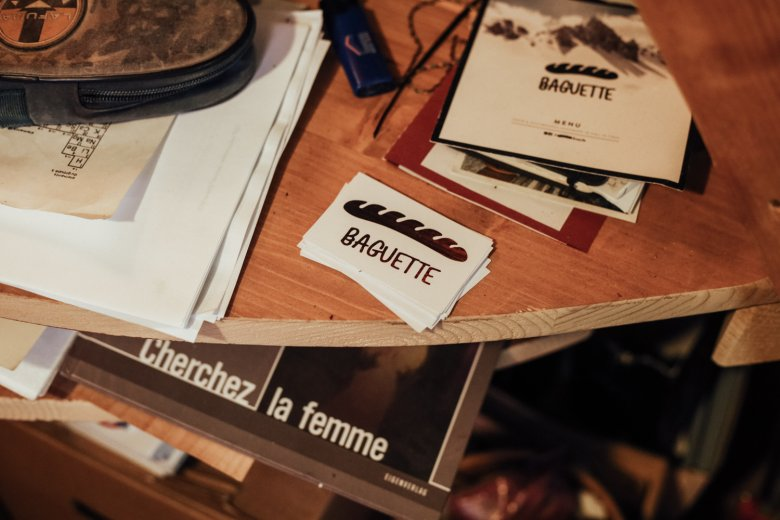 """Playing with stereotypes: """"Baguette Boards"""" is the name of the boards that are handcrafted by Benoît."""