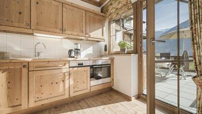 Küche im Arnika mit Terrasse 20m²
