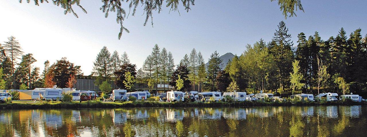 Campsite at the Natterer See lake, © Innsbruck Tourismus / Woergoetter