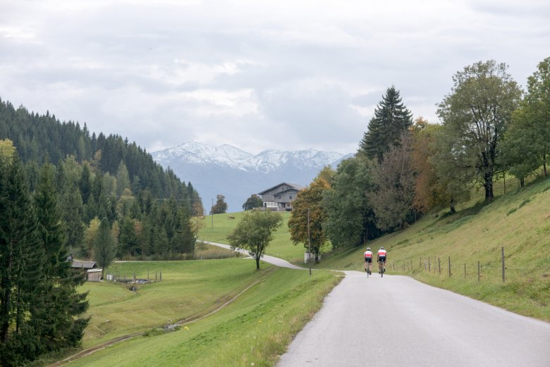 The route from Innsbruck heading east to Wiesing leads through many villages.