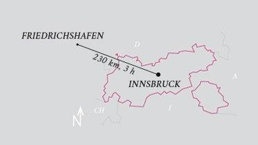 Distance Innsbruck Airport - Friedrichshafen Airport, © Tirol Werbung