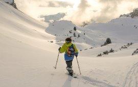 Snowshoe Walk in Rofan Mountain Range.