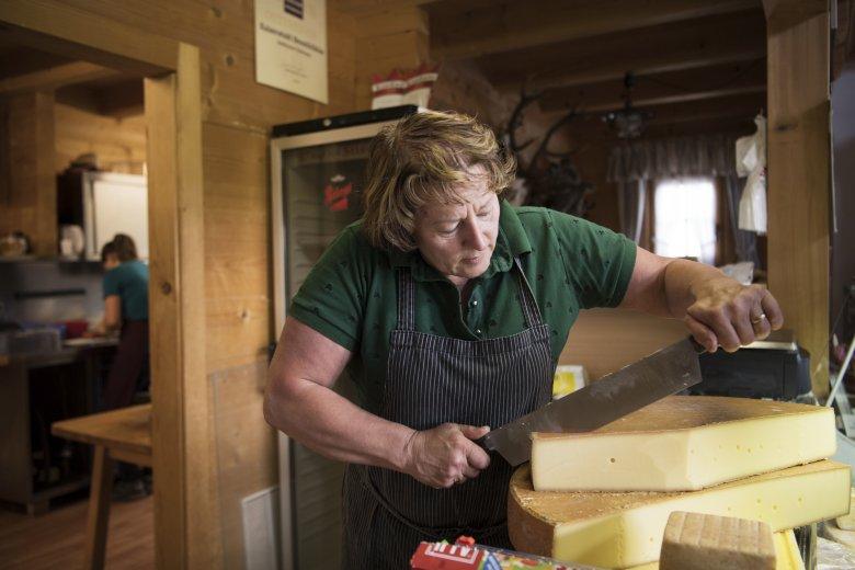 Farmer's wife, cheesemaker and innkeeper Martha Fahringer.