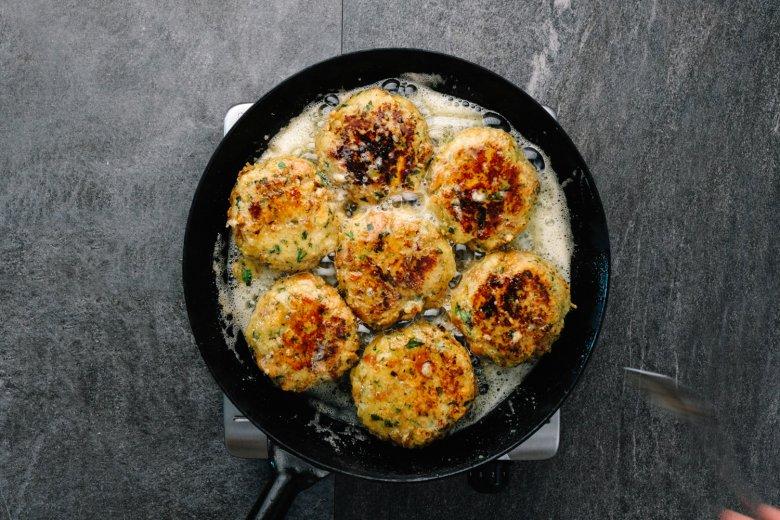 Step 4: Fry the dumplings in a pan from each side until golden brown.