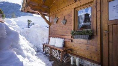 Sauna Außenansicht Winter, © Hotel Karlwirt