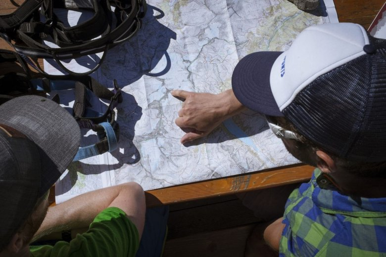 Our destination on the map: Olperer Mountain.