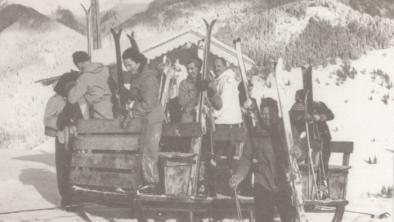 Schlittenlift einer der 1. Lifte in Tirol