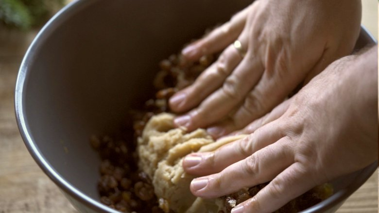 Mix the ingredients together in a bowl and knead to form a firm dough.