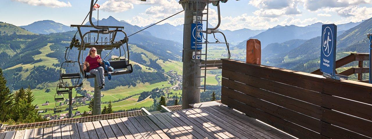 Wannenjochbahn Chairlift in Schattwald, © TVB Tannheimer Tal / Achim Meurer