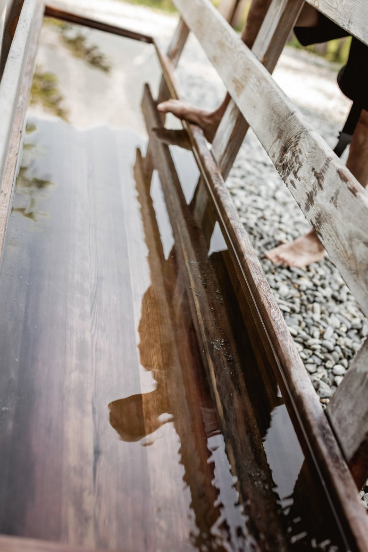 "The water treading basin at ""Frauenbrunnen"" Kneipp Facilities in Tarrenz. © Rudi Wyhlidal"